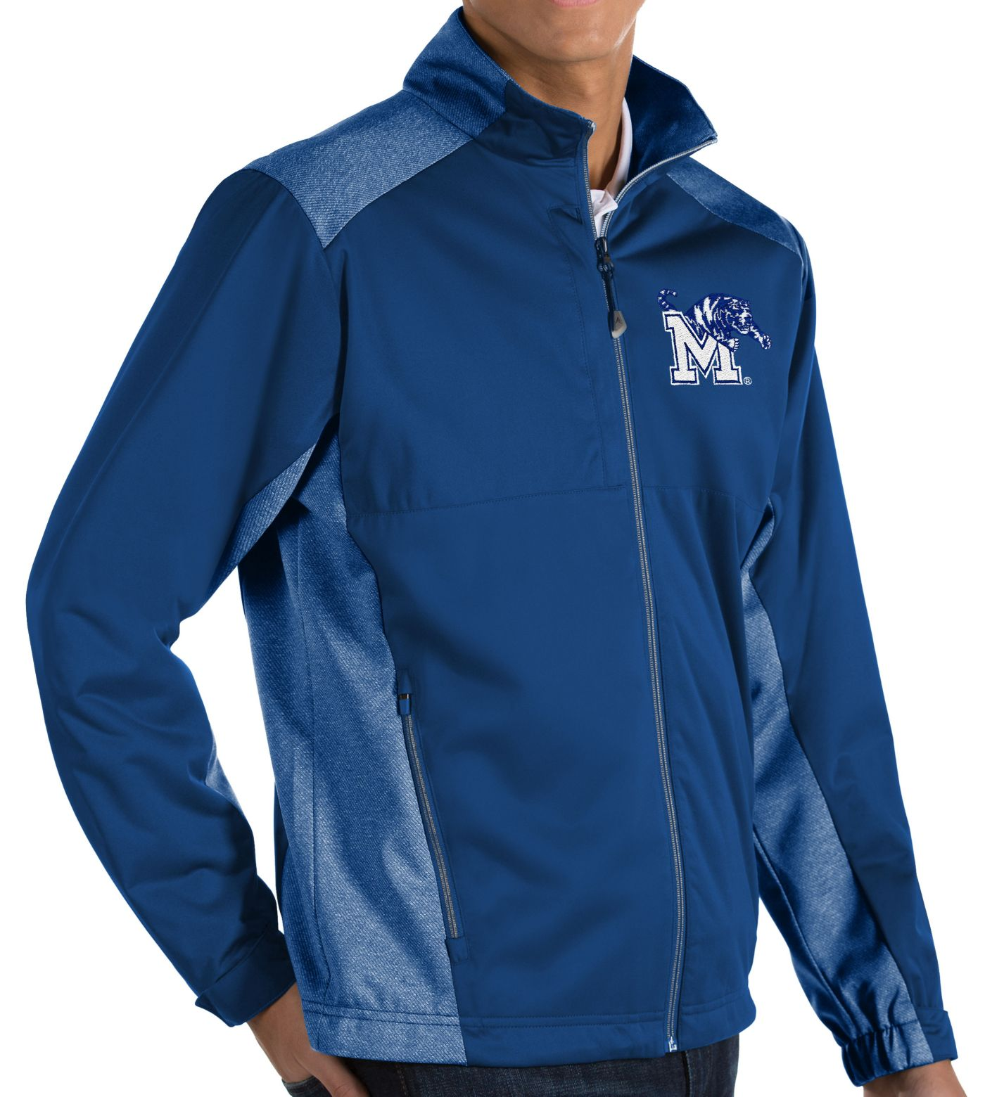 Antigua Men's Memphis Tigers Blue Revolve Full-Zip Jacket