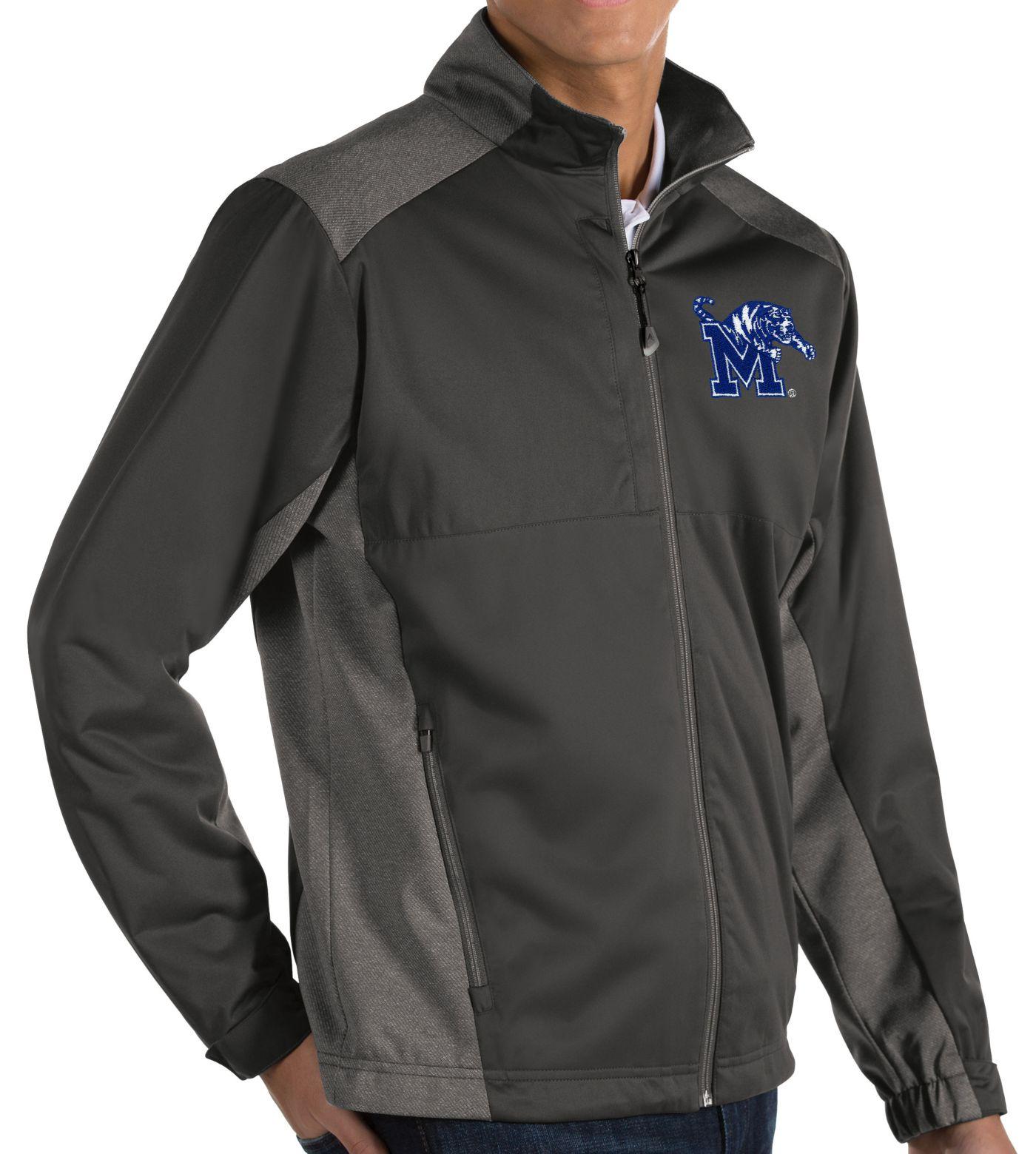 Antigua Men's Memphis Tigers Grey Revolve Full-Zip Jacket