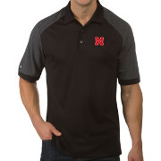 Antigua Men's Nebraska Cornhuskers Engage Performance Black Polo