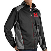 Antigua Men's Nebraska Cornhuskers Revolve Full-Zip Black Jacket