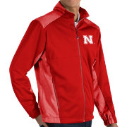 Antigua Men's Nebraska Cornhuskers Scarlet Revolve Full-Zip Jacket