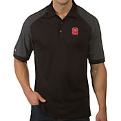 Antigua Men's NC State Wolfpack Engage Performance Black Polo