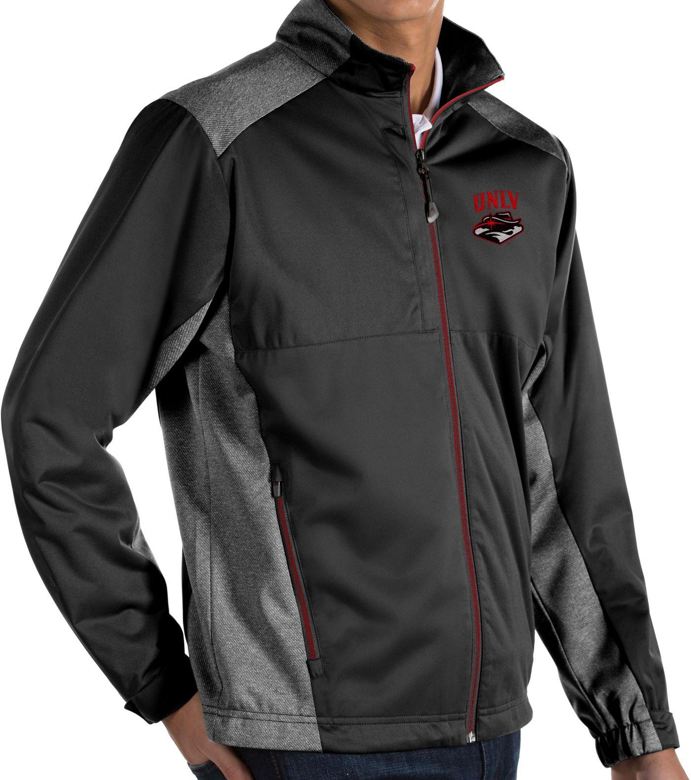 Antigua Men's UNLV Rebels Revolve Full-Zip Black Jacket
