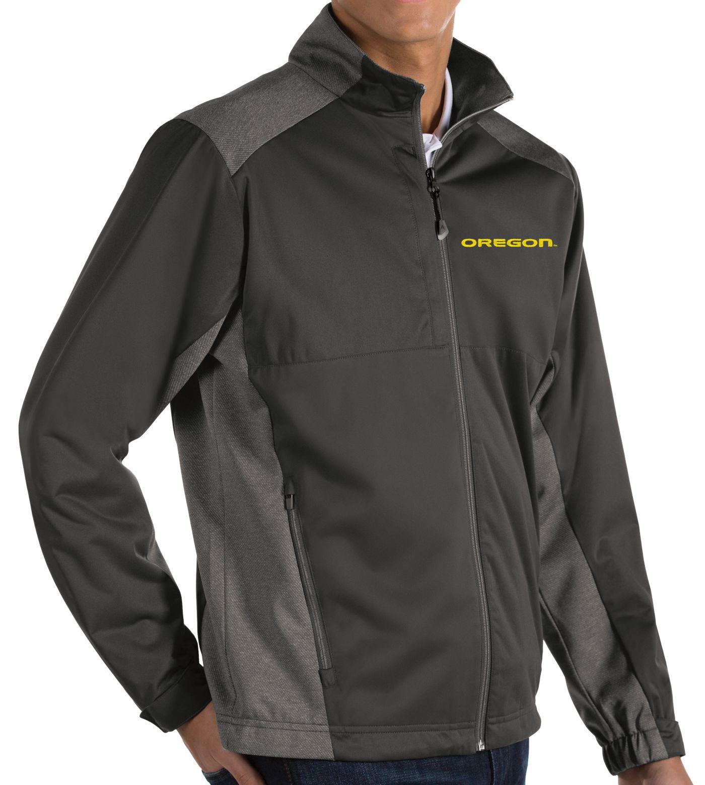Antigua Men's Oregon Ducks Grey Revolve Full-Zip Jacket