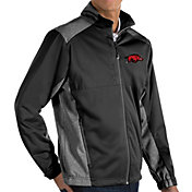 Antigua Men's Arkansas Razorbacks Revolve Full-Zip Black Jacket