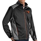 Antigua Men's Oregon State Beavers Revolve Full-Zip Black Jacket