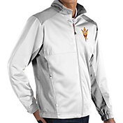 Antigua Men's Arizona State Sun Devils White Revolve Full-Zip Jacket