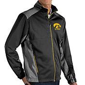 Antigua Men's Iowa Hawkeyes Revolve Full-Zip Black Jacket