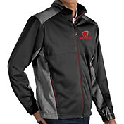 Antigua Men's Wisconsin Badgers Revolve Full-Zip Black Jacket