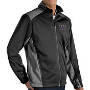 Antigua Men's Washington Huskies Revolve Full-Zip Black Jacket