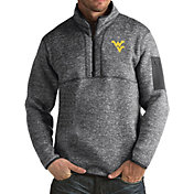 Antigua Men's West Virginia Grey Fortune Pullover Jacket