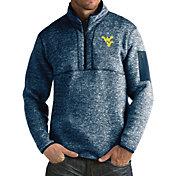 Antigua Men's West Virginia Blue Fortune Pullover Jacket
