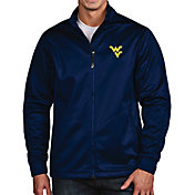 Antigua Men's West Virginia Mountaineers Blue Full-Zip Golf Jacket