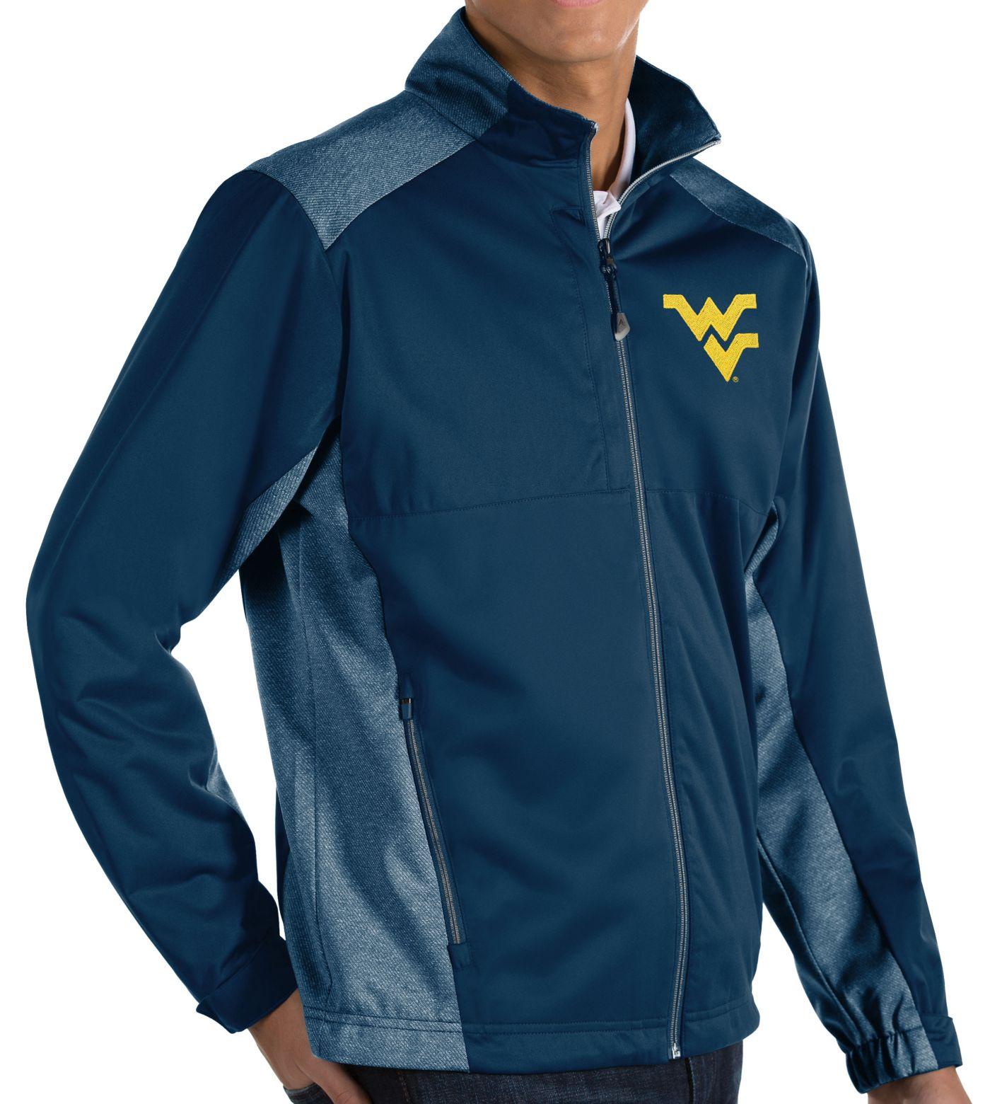 Antigua Men's West Virginia Mountaineers Blue Revolve Full-Zip Jacket
