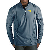 Antigua Men's West Virginia Mountaineers Blue Tempo Half-Zip Pullover