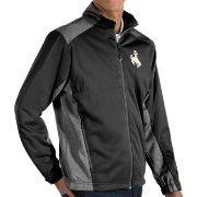 Antigua Men's Wyoming Cowboys Revolve Full-Zip Black Jacket