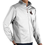 Antigua Men's Wyoming Cowboys White Revolve Full-Zip Jacket