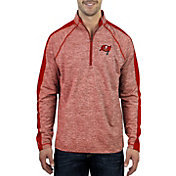 Antigua Men's Tampa Bay Buccaneers Advantage Charcoal Quarter-Zip Pullover