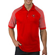 Antigua Men's Tampa Bay Buccaneers Engage Red Performance Polo