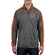 Antigua Men's Cincinnati Bengals Advantage Black Quarter-Zip Pullover