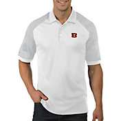 Antigua Men's Cincinnati Bengals Engage White Performance Polo