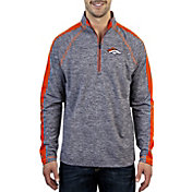 Antigua Men's Denver Broncos Advantage Navy Quarter-Zip Pullover