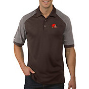 Antigua Men's Cleveland Browns Engage Brown Performance Polo