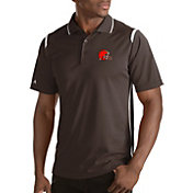 Antigua Men's Cleveland Browns Merit Brown Xtra-Lite Polo