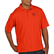 Antigua Men's Cleveland Browns Pique Xtra-Lite Performance Orange Polo