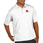 Antigua Men's Cleveland Browns Pique Xtra-Lite Performance White Polo