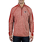 Antigua Men's Kansas City Chiefs Advantage Red Quarter-Zip Pullover