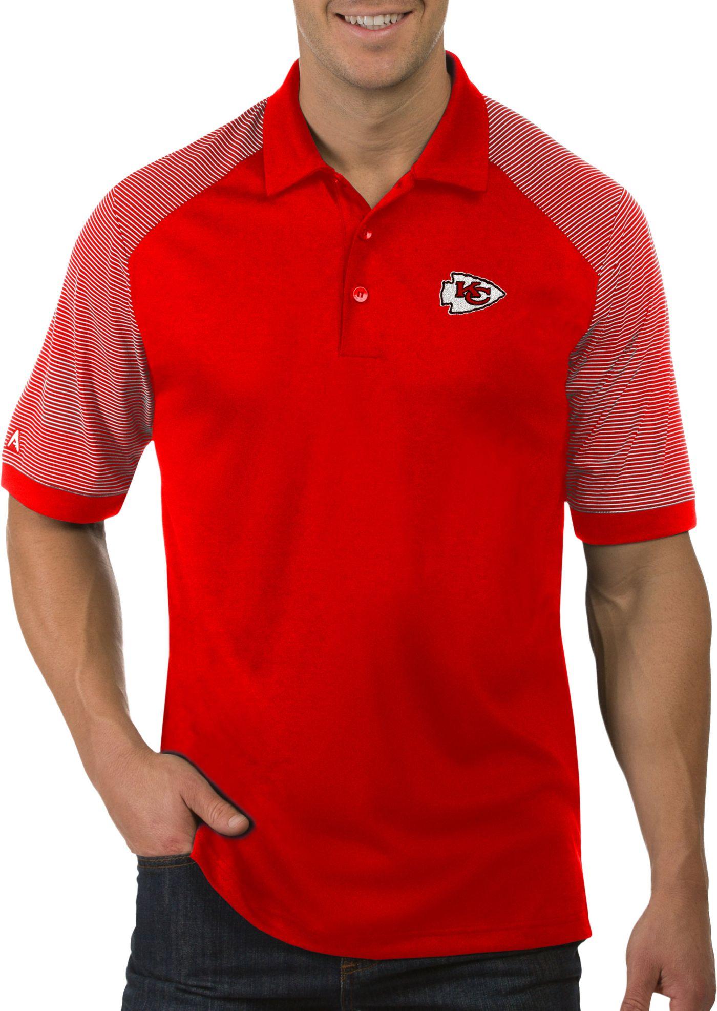 Antigua Men's Kansas City Chiefs Engage Red Performance Polo