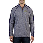 Antigua Men's Los Angeles Chargers Advantage Navy Quarter-Zip Pullover
