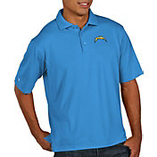 Antigua Men's Los Angeles Chargers Pique Xtra-Lite Performance Blue Polo