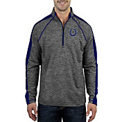 Antigua Men's Indianapolis Colts Advantage Black Quarter-Zip Pullover