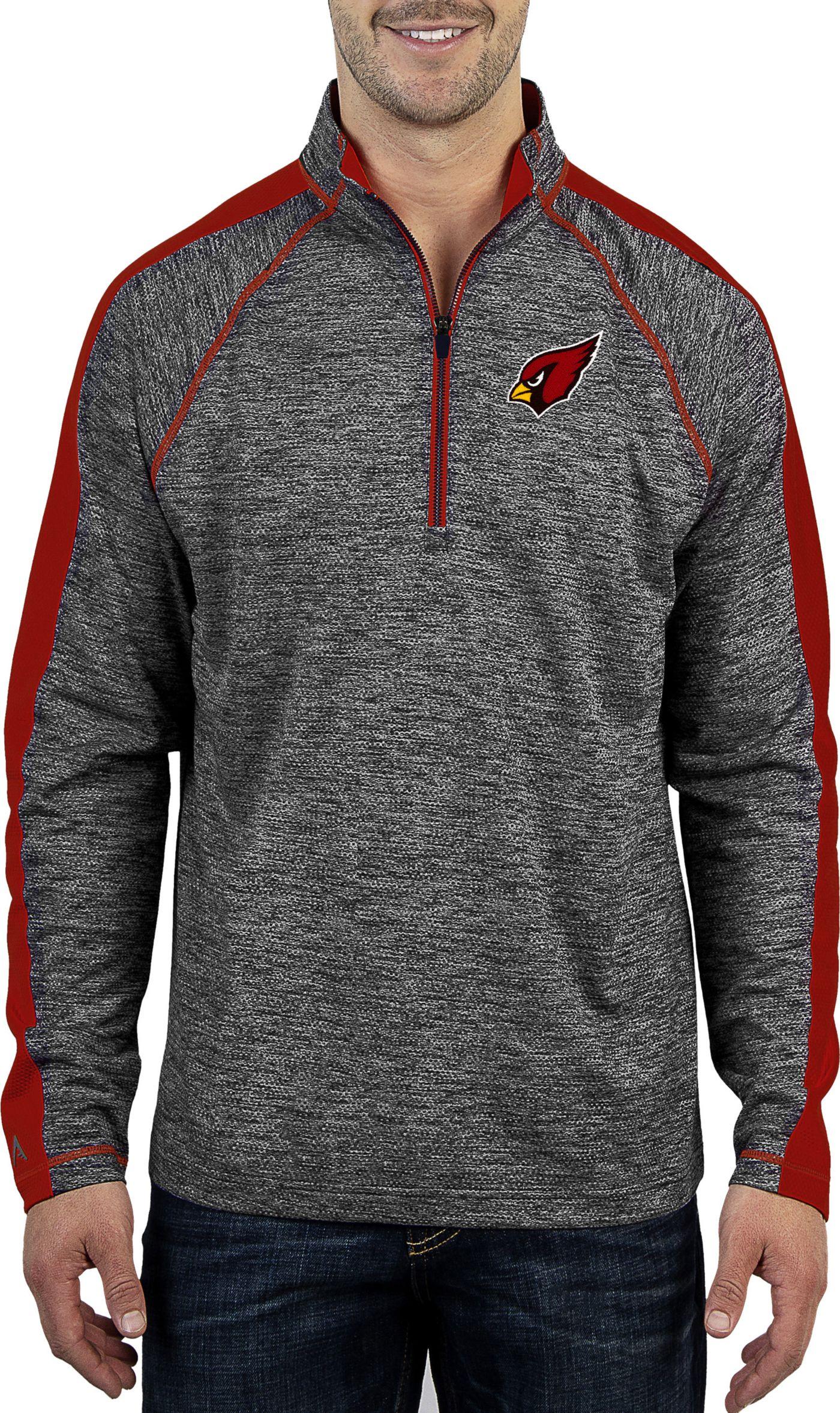 Antigua Men's Arizona Cardinals Advantage Black Quarter-Zip Pullover