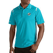 Antigua Men's Miami Dolphins Merit Aqua Xtra-Lite Polo