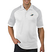 Antigua Men's Miami Dolphins Engage White Performance Polo