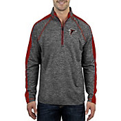 Antigua Men's Atlanta Falcons Advantage Black Quarter-Zip Pullover
