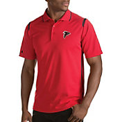 Antigua Men's Atlanta Falcons Merit Red Xtra-Lite Polo