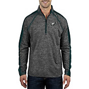 Antigua Men's Philadelphia Eagles Advantage Black Quarter-Zip Pullover