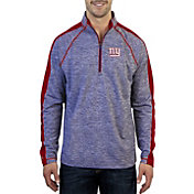 Antigua Men's New York Giants Advantage Royal Quarter-Zip Pullover