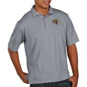 Antigua Men's Jacksonville Jaguars Pique Xtra-Lite Performance Grey Polo