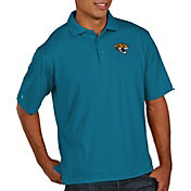 Antigua Men's Jacksonville Jaguars Pique Xtra-Lite Performance Teal Polo