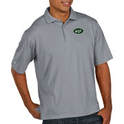 Antigua Men's New York Jets Pique Xtra-Lite Performance Grey Polo