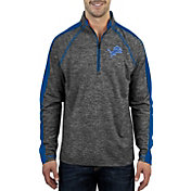 Antigua Men's Detroit Lions Advantage Black Quarter-Zip Pullover
