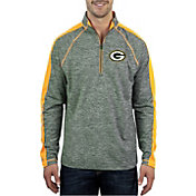 Antigua Men's Green Bay Packers Advantage Green Quarter-Zip Pullover