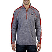 Antigua Men's New England Patriots Advantage Navy Quarter-Zip Pullover