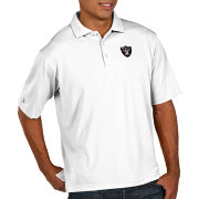 Antigua Men's Oakland Raiders Pique Xtra-Lite Performance White Polo