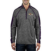 Antigua Men's Baltimore Ravens Advantage Black Quarter-Zip Pullover